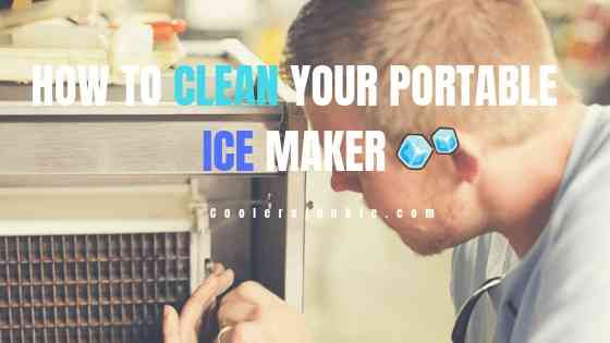 how to clean your portable ice maker